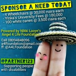 #PARTNER123: Sponsor a Need today!! (Angel 4 Life Foundation)