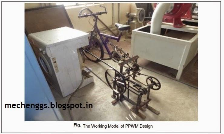 Pedal Operated Washing Machine