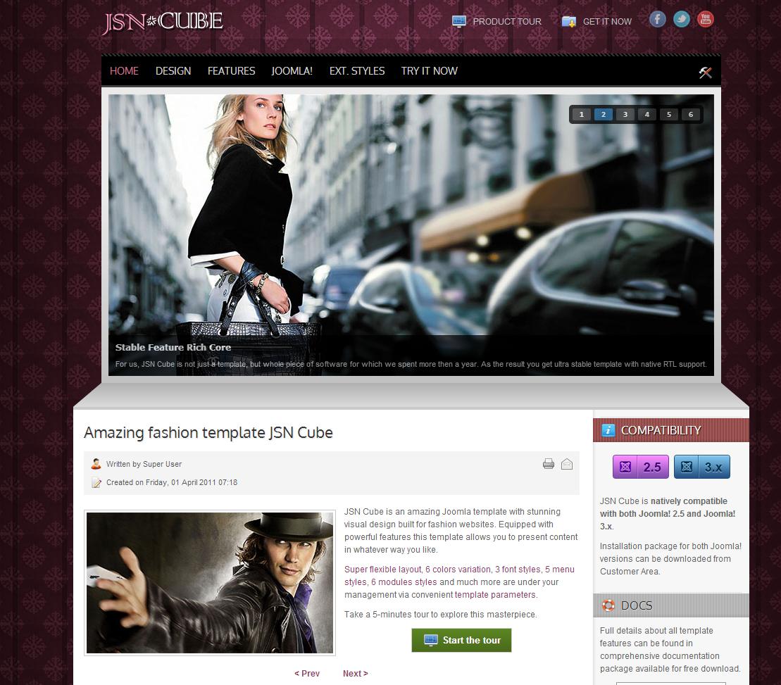 JSN Cube Free Joomla Template