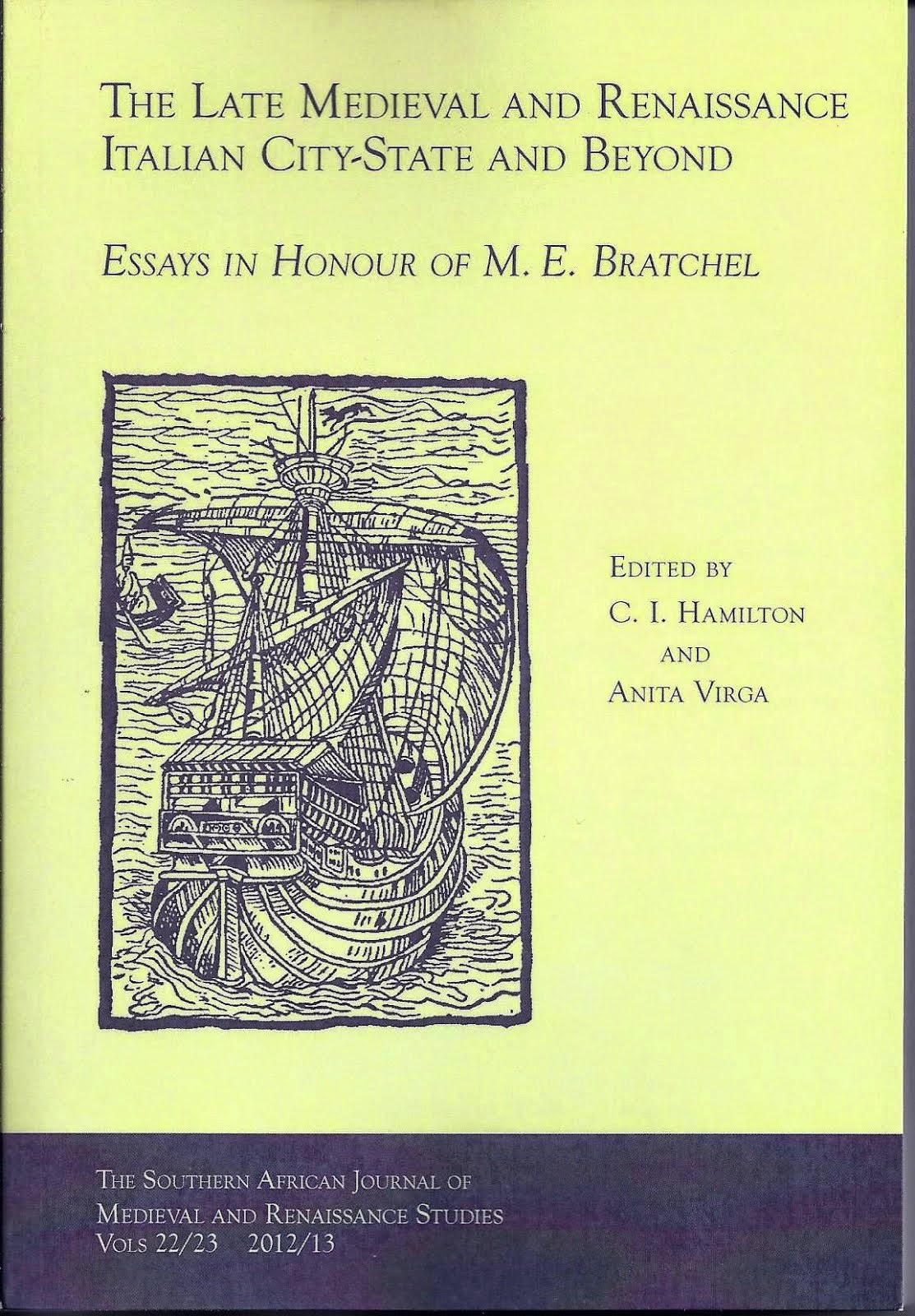 Essays in honour of M.E. Bratchel
