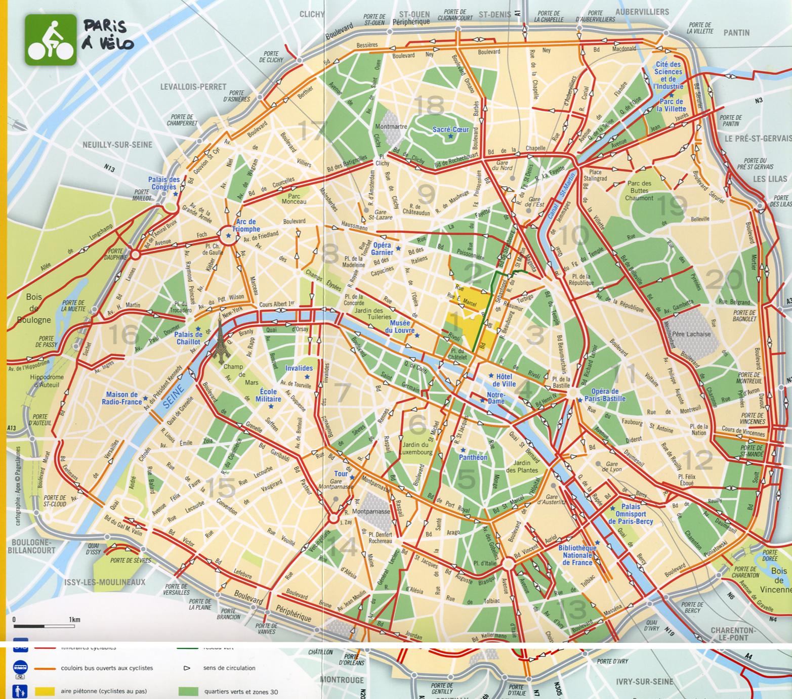 Cycling In Paris Bicycle Lanes - Nyc map bike lanes