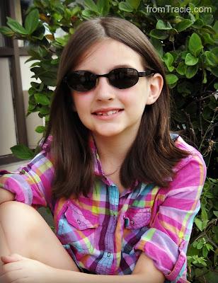 Katarina wearing sunglasses