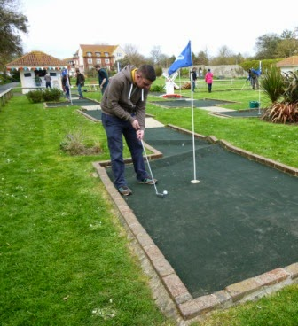 Splash Point Mini Golf course in Worthing,West Sussex