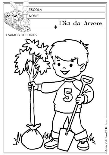 Desenho para Colorir Dia da árvore