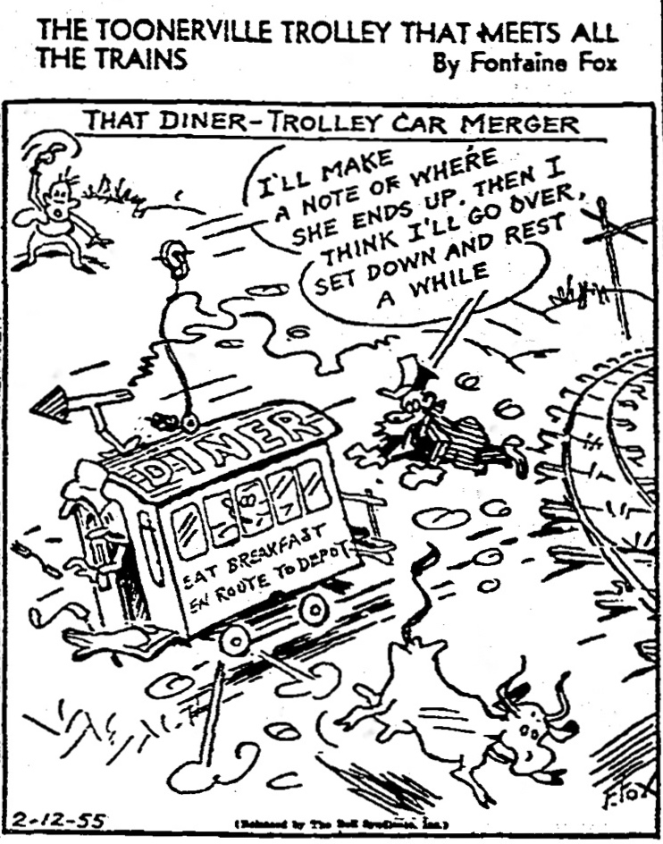 Trolley comic strip folks
