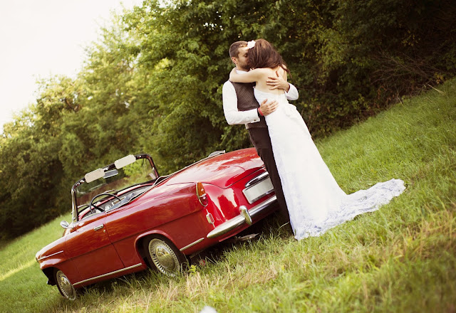 Excellent wedding car vector photographs