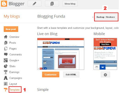 Download or Upload Blog Template by BloggingFunda