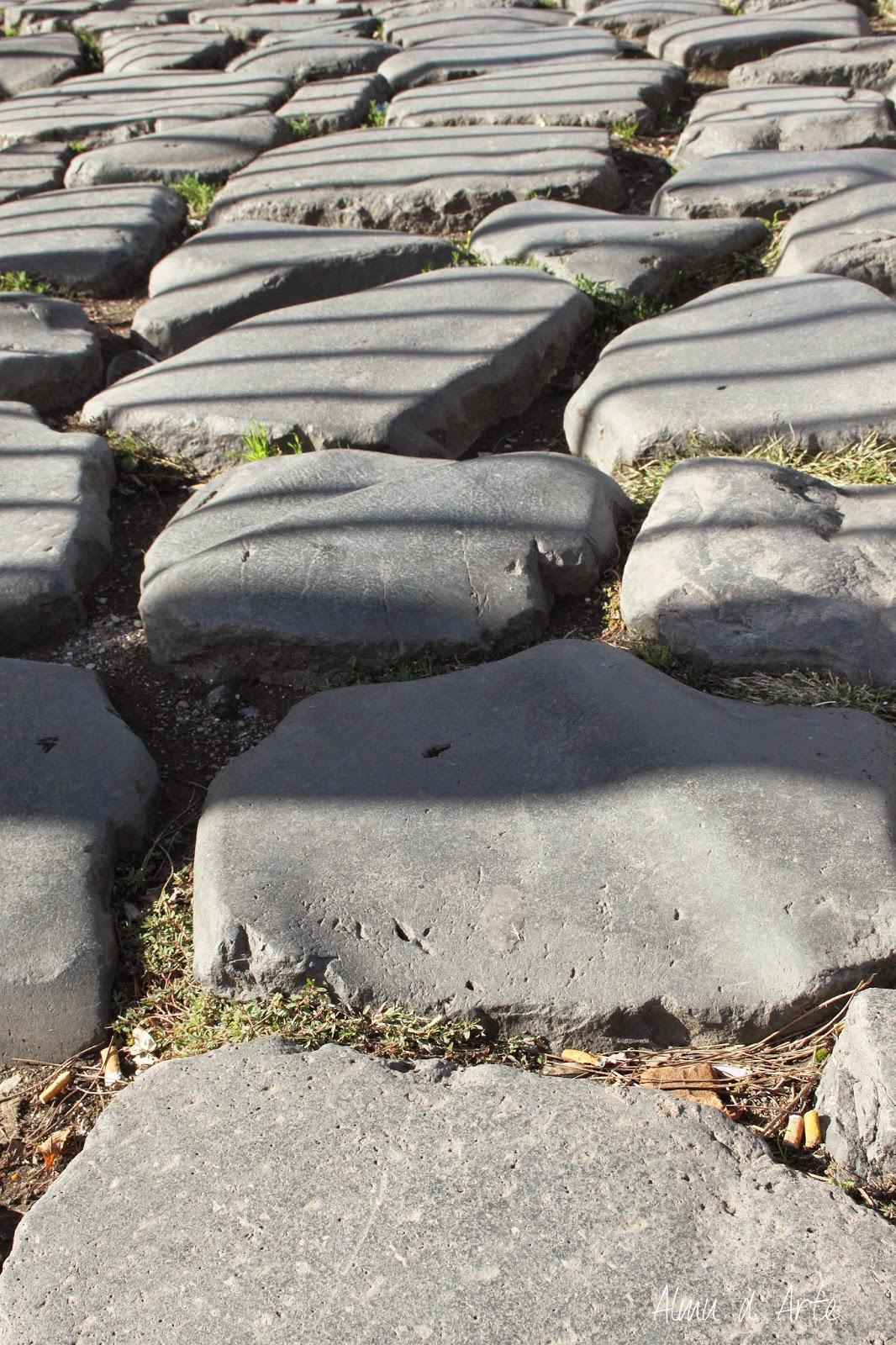 Calzada original de Roma
