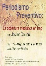 """Acto público """"La cobertura mediática en Iraq"""" por Javier Couso"""