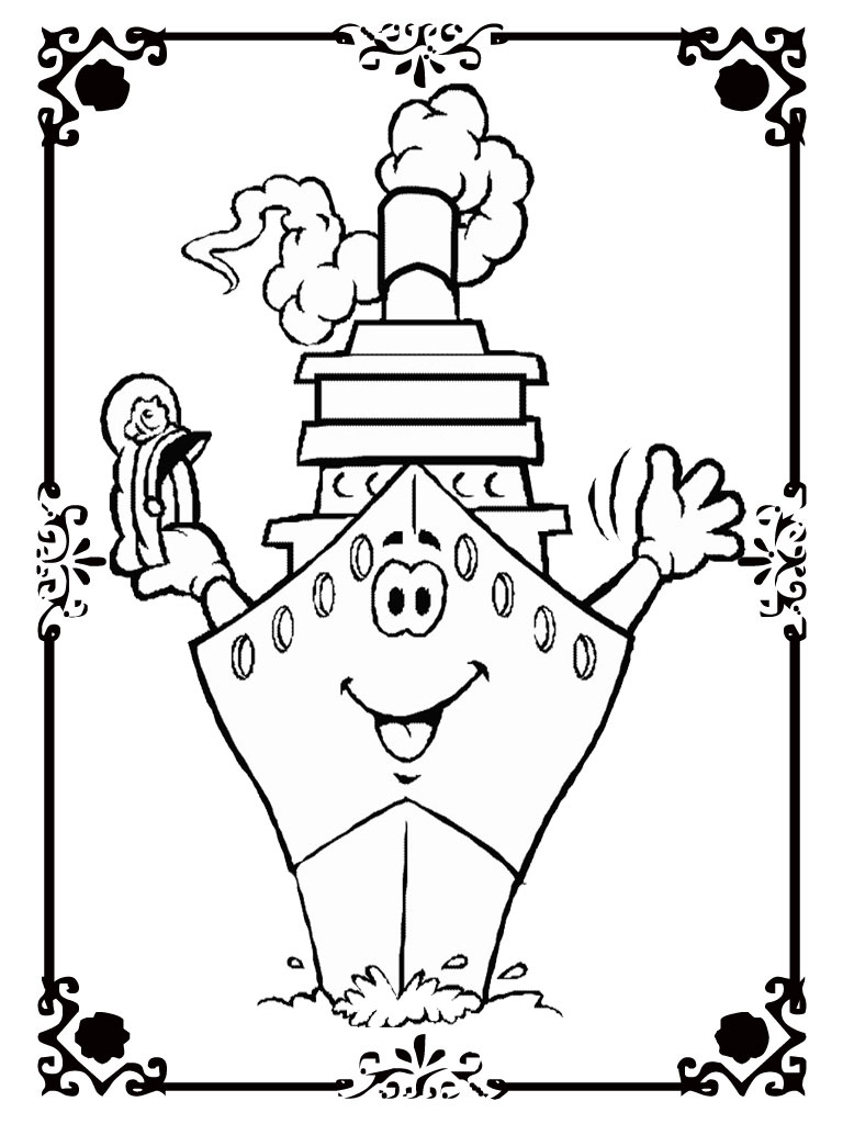 downloadable pirate coloring pages - photo#31
