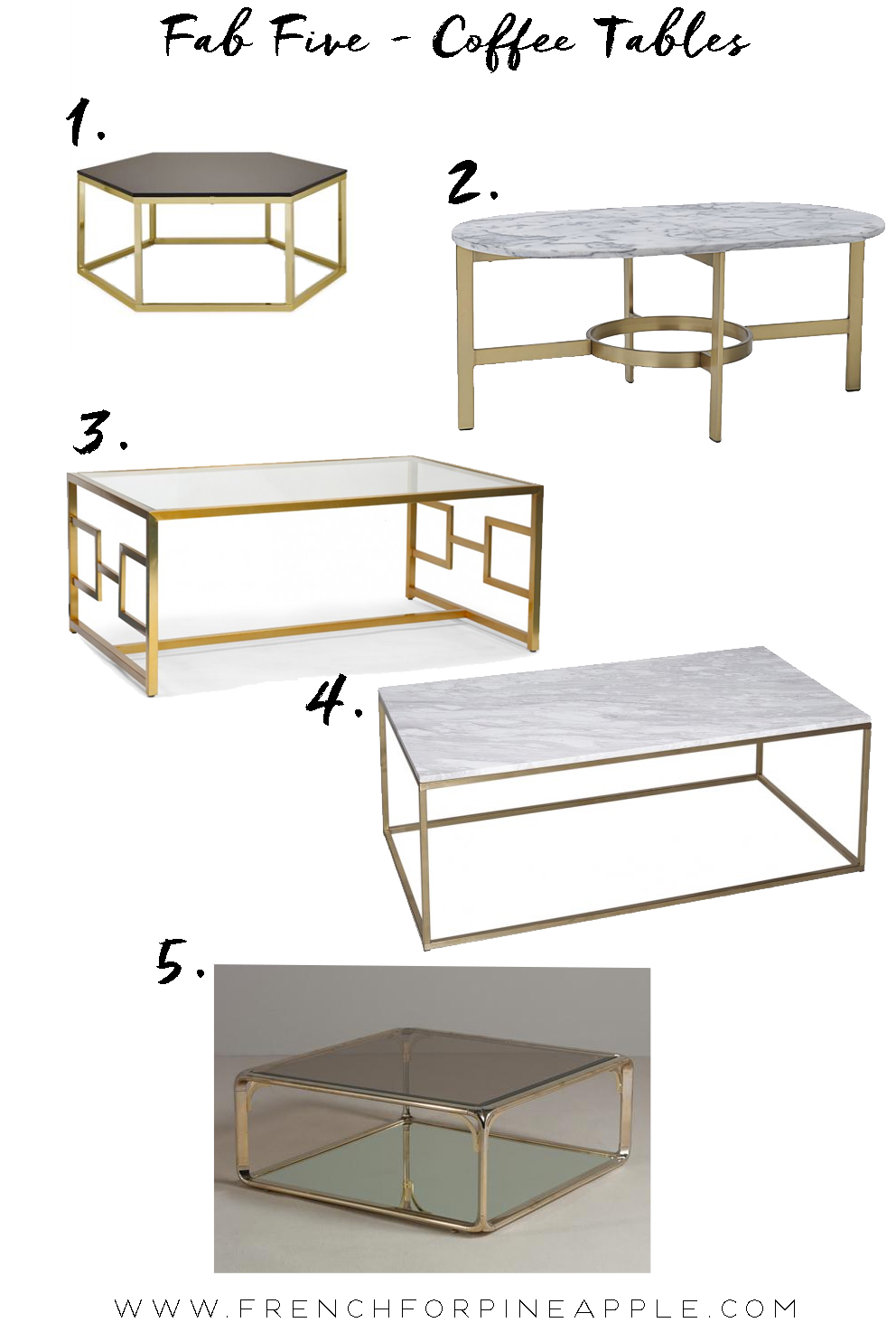Fab Five Coffee Tables - French For Pineapple Blog