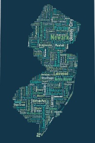 New Jersey Typography Map