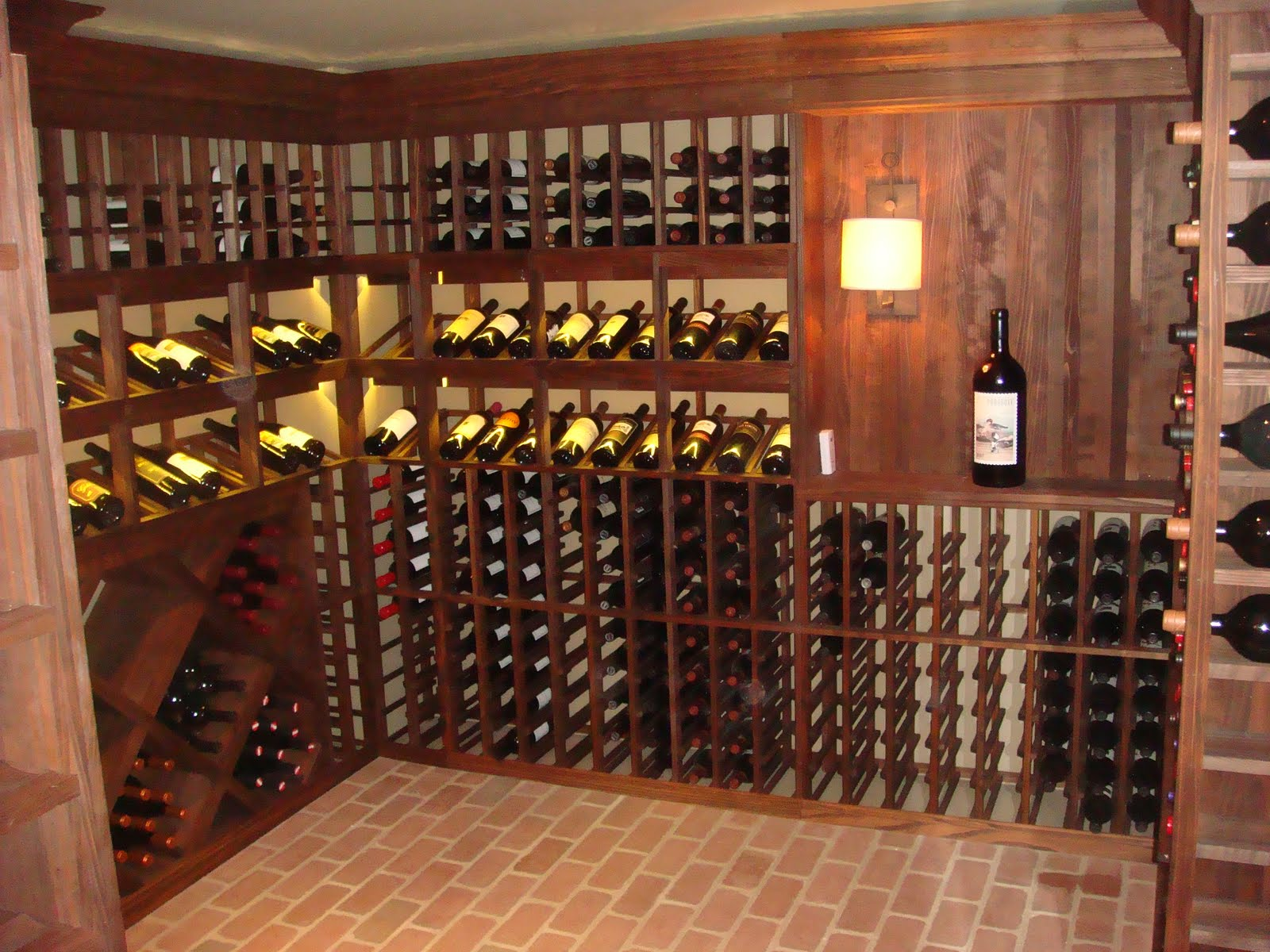 Charlotte home remodeling company wine cellars basement renovations and kitchen remodeling - Small space wine racks design ...