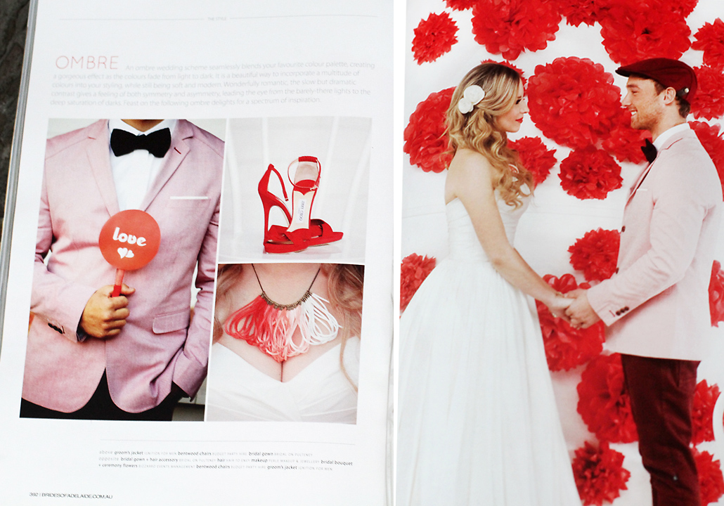 Perle jewellery and makeup brides of adelaide editorial feature ombre wedding theme brides of adelaide red wedding junglespirit Image collections