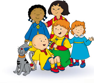 Caillou on rosita puppet