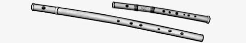 Bansuri:woodwind instrument.india.