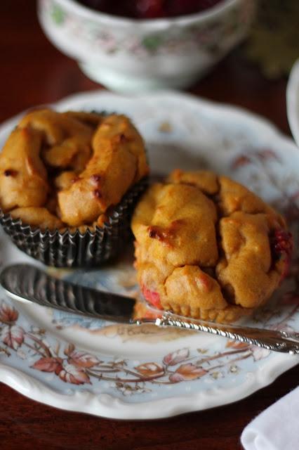 Gluten Free Pumpkin Cranberry Muffins