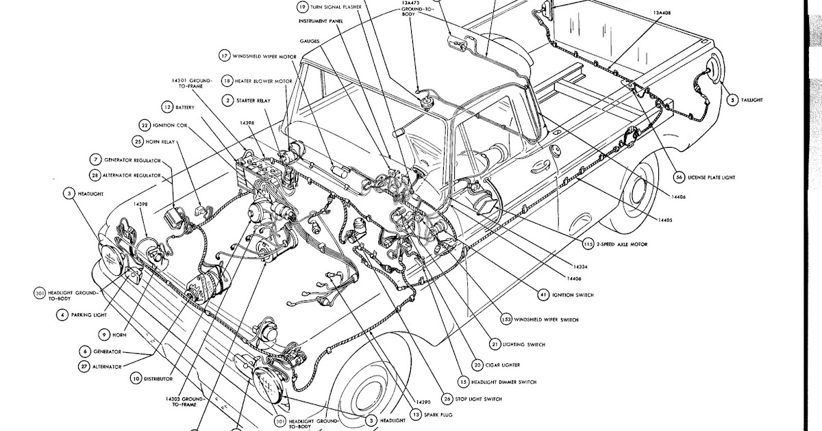 Free Auto Wiring Diagram  1964 Ford F