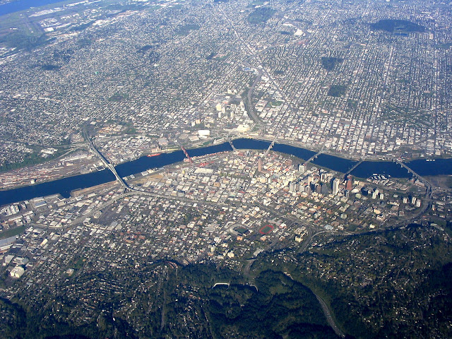 Portland, aerial, oregon, City, hometown