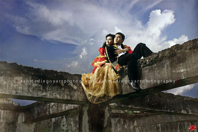 prewedding Neri & Rema konsep baju belanda