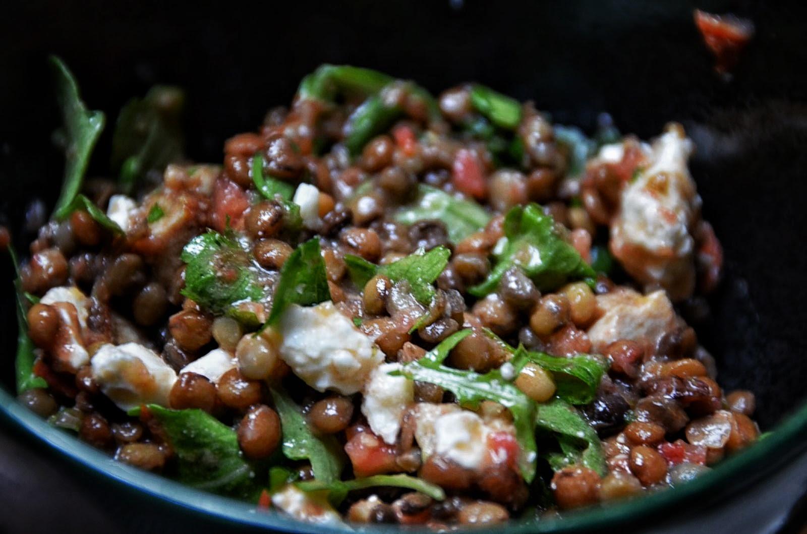 Warm Lentil Salad with Feta | Cheesy Pennies