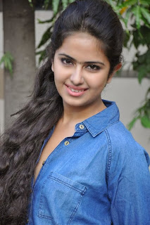 Acress Avika Gor Pictures in Pink Tight Jeans at Uyyala Jampala Movie Press Meet 0002.jpg