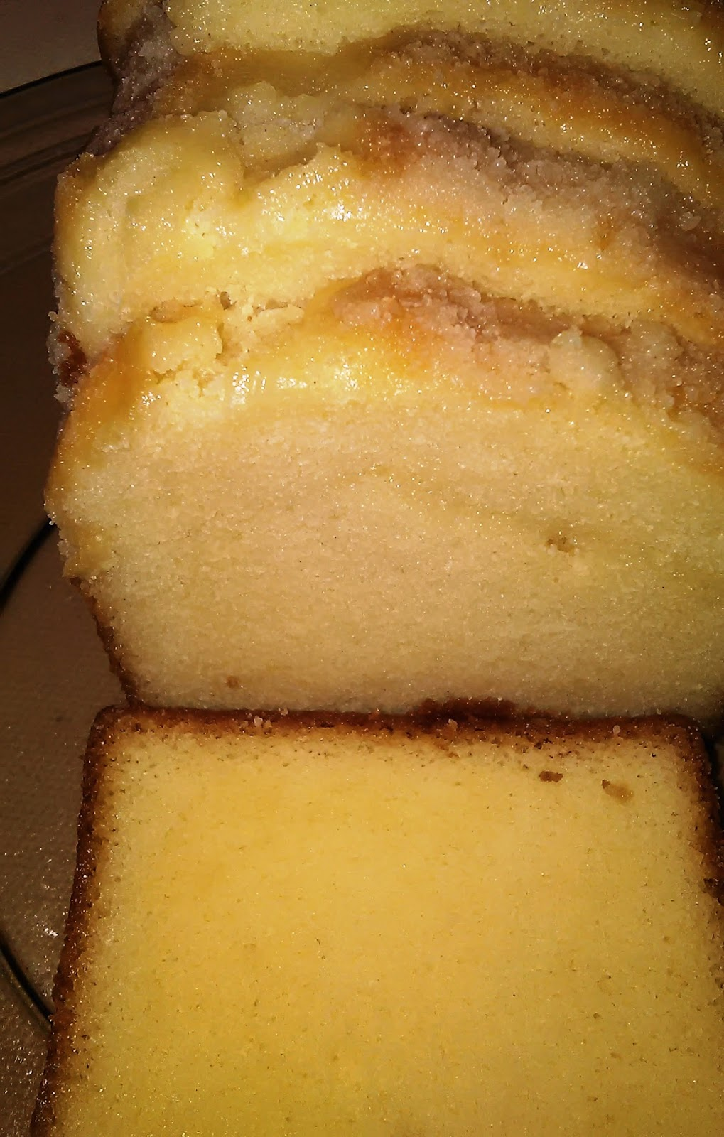 Vanilla and Lemon Sliced Loaf Cake