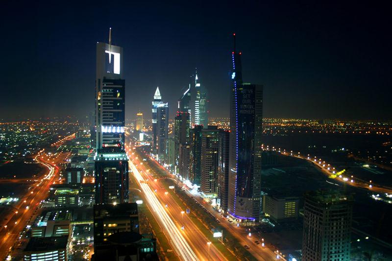 Dubai view at night