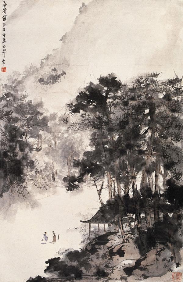 bensozia fu baoshi traditional chinese painting in an