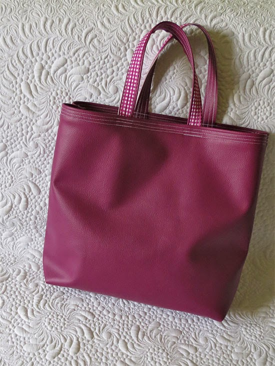 Faux Leather Shopping Bags