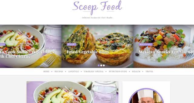 Scoop Food : Cookery Blogger Template