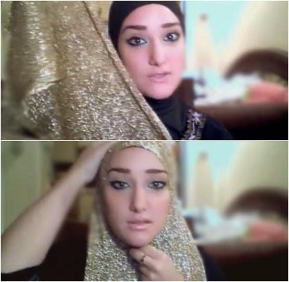 Tutorial Hijab dengan Pashmina Glitter untuk ke Acara Pernikahan