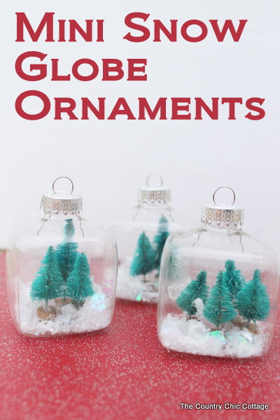 Kids Craft:  Mini Snow Globe Ornaments -- click the picture to get the full instructions for making your own fun Christmas ornaments.