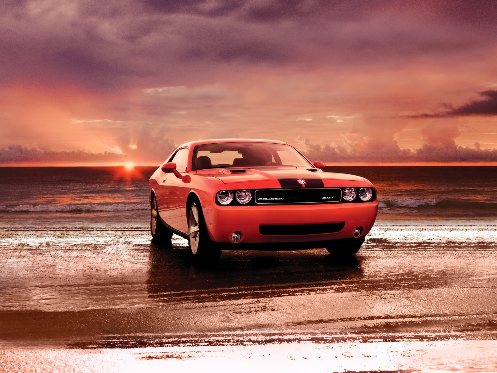 Dodge wallpaper red sunset background