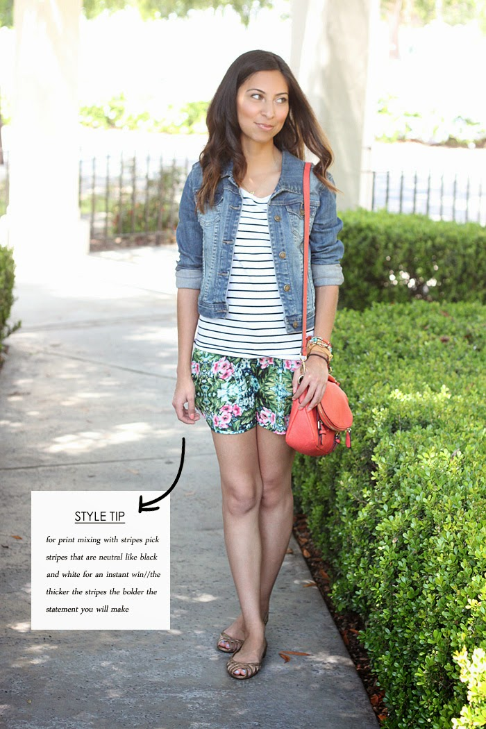 how to print mix with stripes and florals
