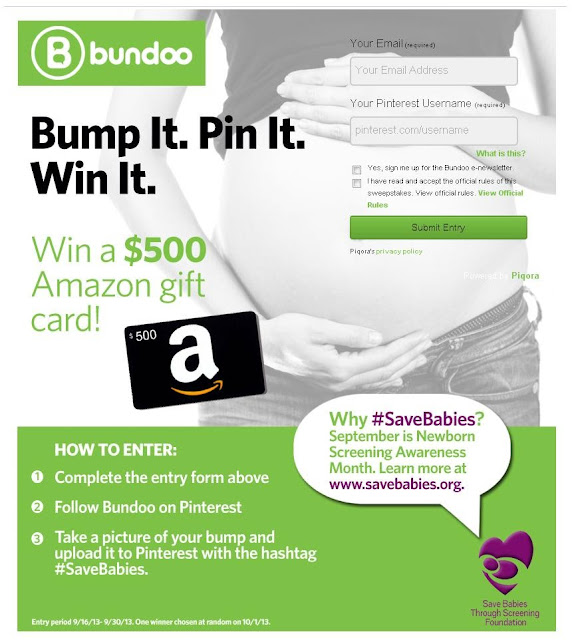 Bump It. Pin It. Win It. Bundoo $500 Amazon Contest
