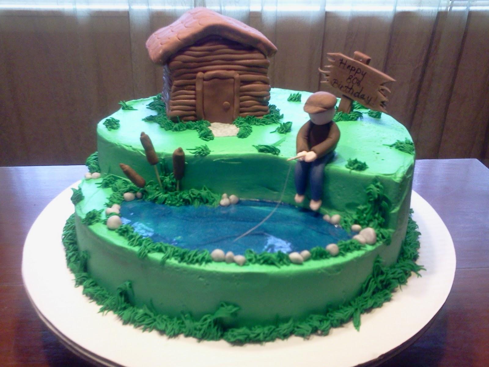 Edee's Custom Cakes: 80th fisherman birthday