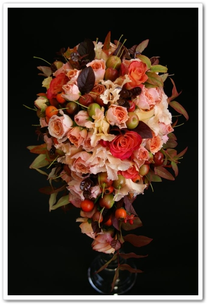 dropp formad brudbukett, tear drop bouquet