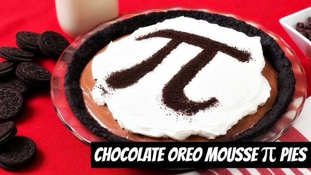 How to Make Chocolate Oreo Mousse pi (π) pies via geniusknight.blogspot.com pi day recipe by Rosanna Pansino