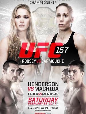 Cartaz oficial do UFC 157 (Foto: Divulgação/UFC)
