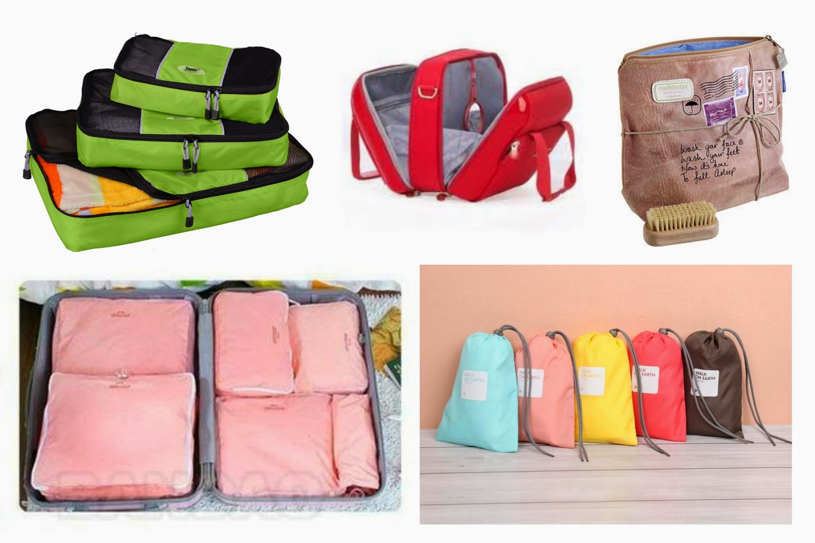 Regalos para viajeros: bolsas organizadoras maleta