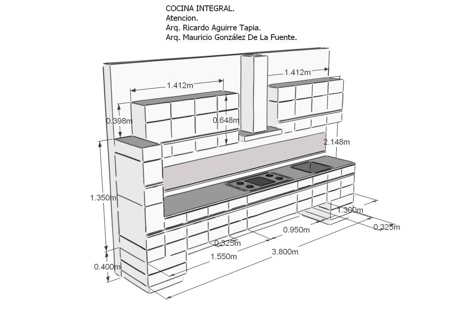 Closets y cocinas integrales residencial proyecto de for Medidas estandar de cajones de cocina