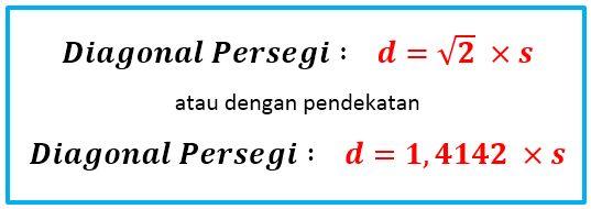 Gambar: rumus diagonal  persegi/bujur sangkar