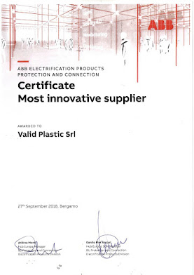 CERTIFICATO MOST INNOVATIVE SUPPLIER