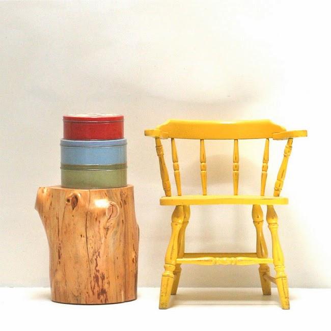 Muebles troncos de madera for Muebles con troncos