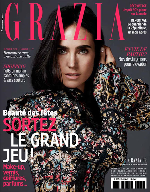 Actress, Model, @ Jennifer Connelly - Grazia, December 2015