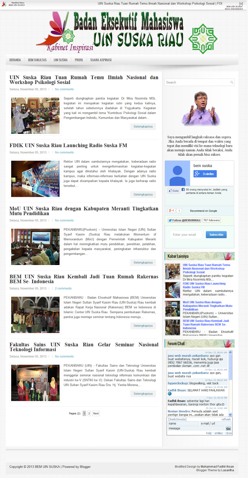 Screenshot Design Blog Juara 1