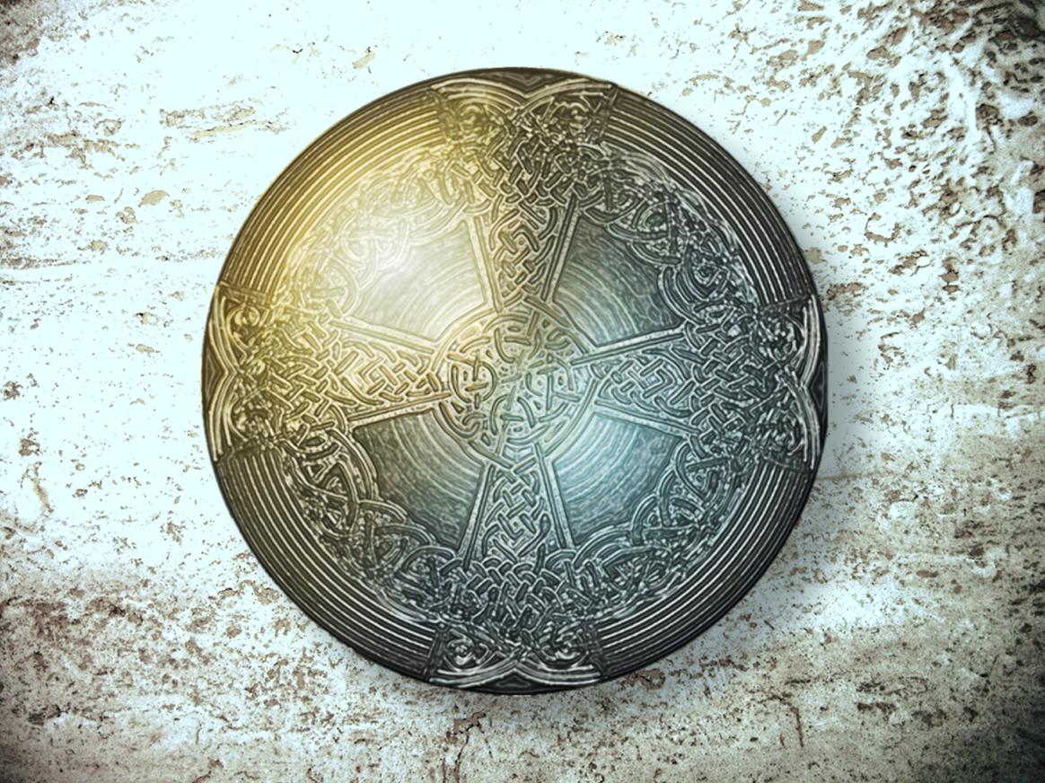 Celtic Templar Shield by Barbara Ivie Green
