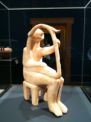 Cycladic harp player from Getty Villa by Maja Trochimczyk