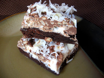 new sept+045a Marshmallow Crispy Brownie Bars